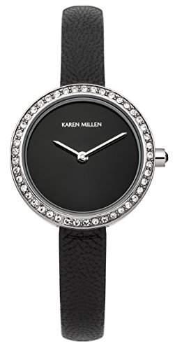 Karen Millen Damen-Armbanduhr Analog Quarz Leder KM146B