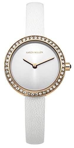 Karen Millen Damen-Armbanduhr Analog Quarz Leder KM146WRG