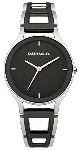 Karen Millen Damen-Armbanduhr Analog Quarz Edelstahl KM148SBM