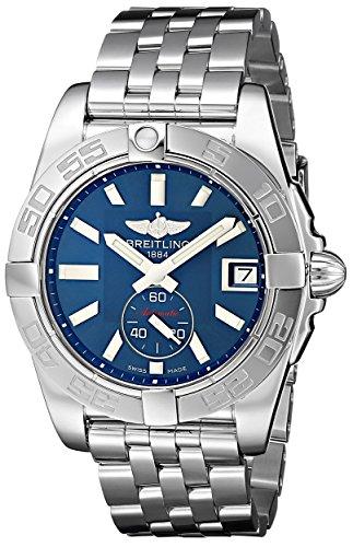 Breitling Galactic 36 Damen Automatik Uhr mit Blau Zifferblatt Analog Anzeige und Silber Edelstahl Armband A3733012 C824 376 A