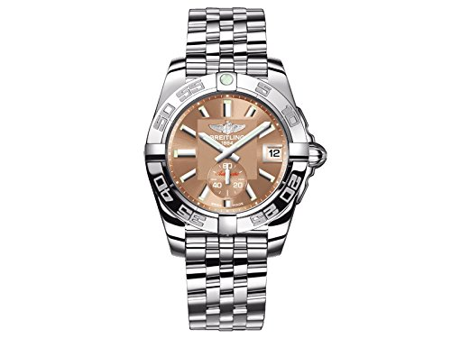Breitling Galactic 36 Damen Automatik Uhr mit Braun Zifferblatt Analog Anzeige und Silber Edelstahl Armband A3733012 q582 376 A