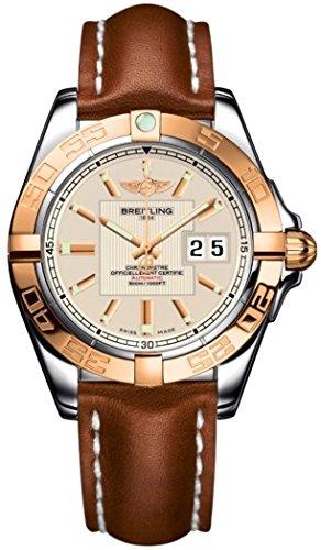 Breitling Herren Armbanduhr Breitling Galactic 41 Analog Automatik Leder Braun C49350L2 G701 425X