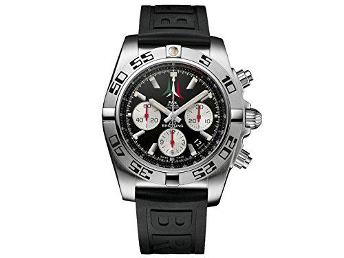 Breitling Herren Armbanduhr Breitling Chronomat 44 P A N Frecce Tricolori AB01104D BC62 153S Chronograph Gummi Schwarz AB01104DBC62153S