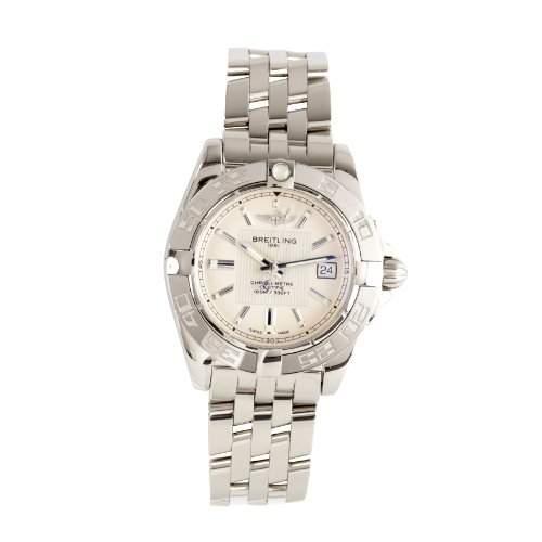 Breitling Damen-Armbanduhr XS Galactic 32 Analog Quarz Edelstahl A71356L2G702367A
