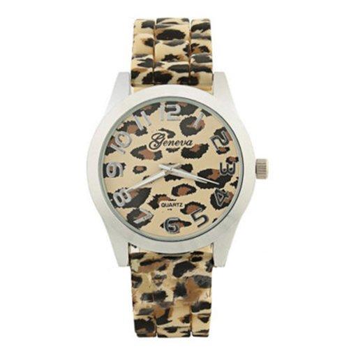 Casual Damen Maedchen Leopard Gelee Silikon Watch Modell 2