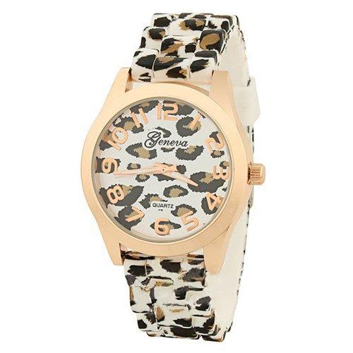 Casual Damen Maedchen Leopard Gelee Silikon Watch Modell 3