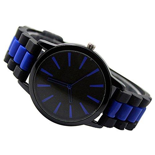 Einfach Unisex Damen Herren Silikon Armband Jellyfarben Gel Quarz Analog Sportuhr Armbanduhr Weiss