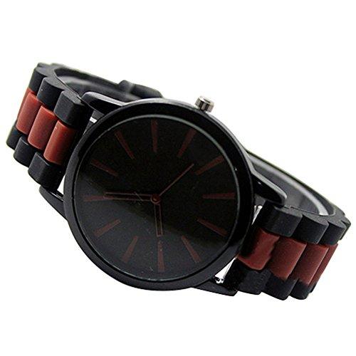 Einfach Unisex Damen Herren Silikon Armband Jellyfarben Gel Quarz Analog Sportuhr Armbanduhr Braun