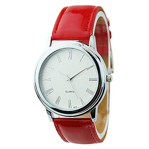 Neu Fashion Classic Design Damen Uhr Rot