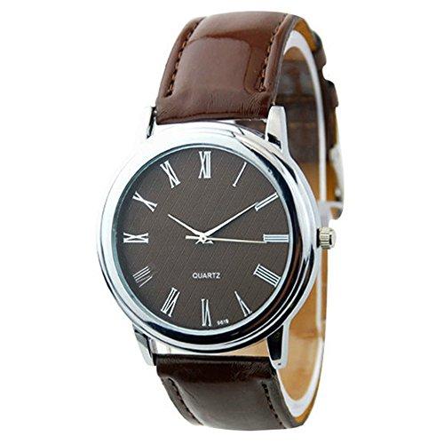 Neu Fashion Classic Design Damen Damenuhr Quarz Armbanduhr Uhr Braun