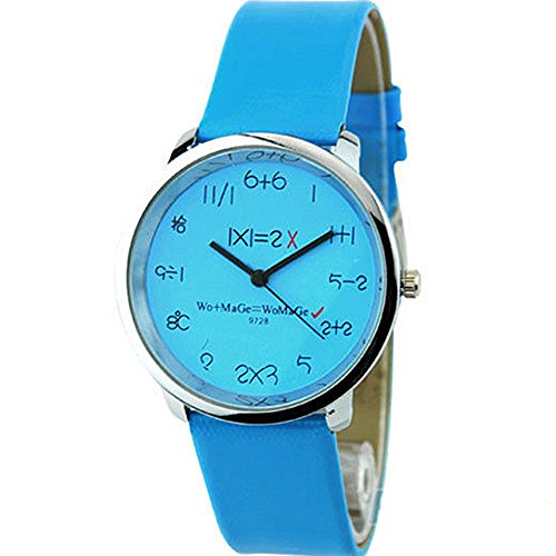 Mathematik Dial Quartz Fashion Armbanduhr Blau