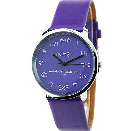 Mathematik Dial Quartz Fashion Armbanduhr Purpur