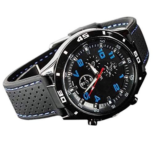 Sanwood Herren Armbanduhr Men Uhr Racer Watch Blau