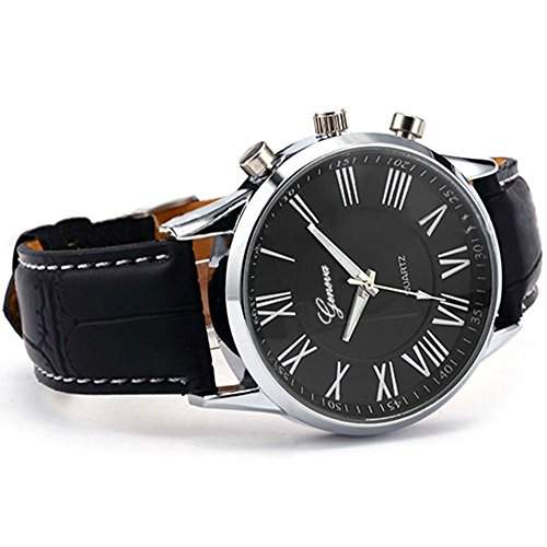 Herren Analoge Quarz Armbanduhr Schwarz Watch