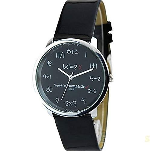 Mathematik Dial Quartz Damen Uhr Fashion Armbanduhr Schwarz