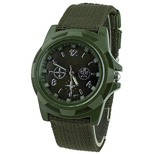 Unisex Militaer Infantry Armee Canvas Sport Uhren Gruen