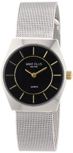 Mike Ellis New York Damen-Armbanduhr XS Analog Quarz Edelstahl L1126ASM2