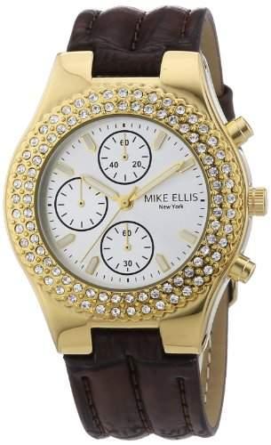 Mike Ellis New York Damen-Armbanduhr XS Analog Quarz Kunstleder L2618AGU1