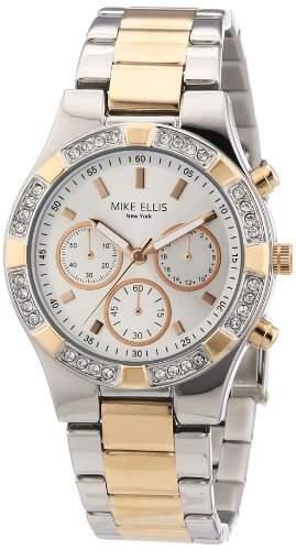 Mike Ellis New York Damen-Armbanduhr Analog Quarz Edelstahl L2698ARM1