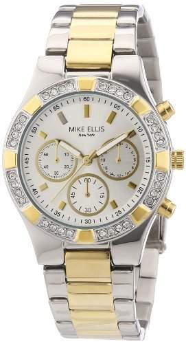 Mike Ellis New York Damen-Armbanduhr XS Analog Quarz Edelstahl L2698ASM1