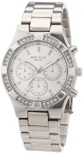 Mike Ellis New York Damen-Armbanduhr XS Analog Quarz Edelstahl L2698ASM