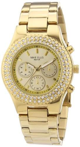 Mike Ellis New York Damen-Armbanduhr XS Analog Quarz Edelstahl beschichtet L2970AGM