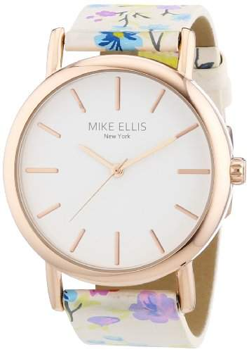 Mike Ellis New York Damen-Armbanduhr Analog Quarz Kunstleder L29795