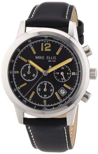 Mike Ellis New York Herren-Armbanduhr XS Analog Quarz Leder M2451SSL2