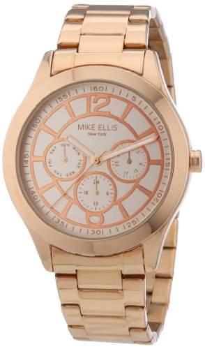 Mike Ellis New York Damen-Armbanduhr Analog Quarz Edelstahl beschichtet M2756ARM1