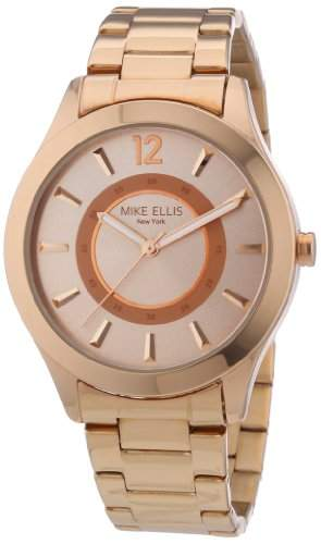 Mike Ellis New York Damen-Armbanduhr Analog Quarz Edelstahl M2756ARM