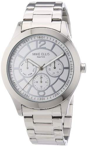 Mike Ellis New York Damen-Armbanduhr Analog Quarz Edelstahl M2756ASM1