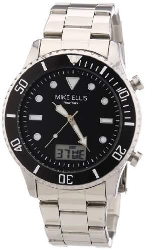 Mike Ellis New York Herren-Armbanduhr XS Analog - Digital Quarz Edelstahl M2959ASM1
