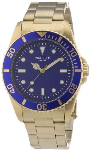 Mike Ellis New York Herren-Armbanduhr XS Analog Quarz Edelstahl beschichtet M2969AGM1