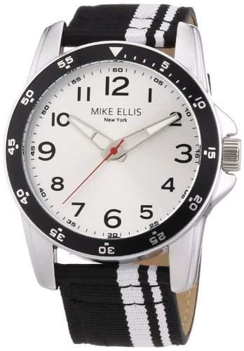 Mike Ellis New York Herren-Armbanduhr XL Analog Quarz Textil M31452