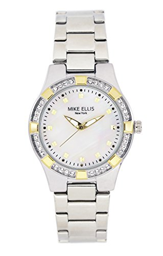 Mike Ellis New York Damen Armbanduhr Luxury Analog Quarz Edelstahl SL2968A2