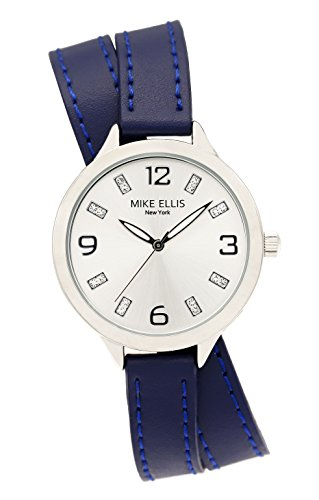 Mike Ellis New York Damen Armbanduhr Streamline Analog Quarz Leder SL3142F7