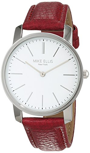 Mike Ellis New York Damen dunkelpink Armbanduhr Preppy Analog Quarz Kunstleder SL4527A10