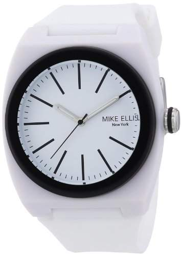 Mike Ellis New York Unisex-Armbanduhr Analog Quarz Silikon S5244CS5