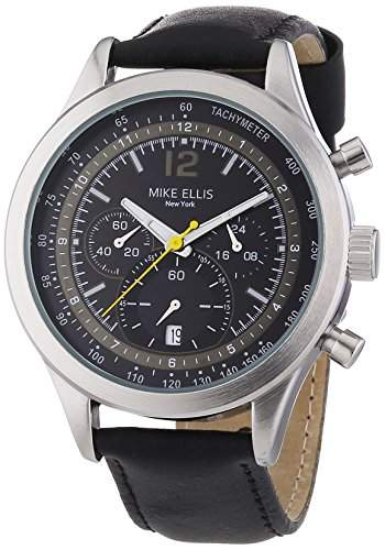 Mike Ellis New York Herren-Armbanduhr XL Chronograph Quarz Leder SL4-60226