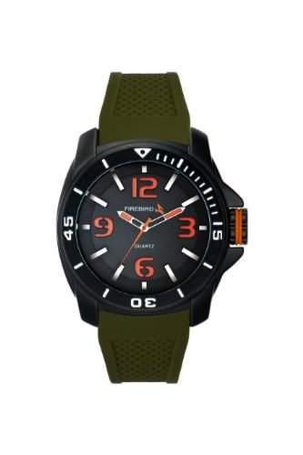 Firebird Herren-Armbanduhr XL Hunter Analog Quarz Kautschuk FB100B