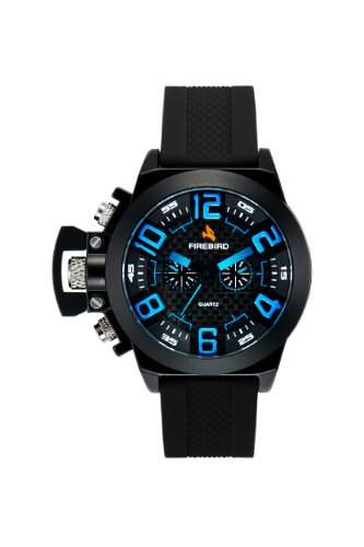 Firebird Herren-Armbanduhr XL Aras Analog Quarz Kautschuk FB105B
