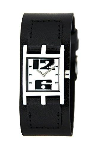 Bruno Banani Uhr fuer Frauen Lederband schwarz BR21065