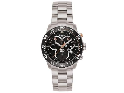 Traser H3 Damenuhr Ladytime Black ChronographT73922AHG1A01 Stahlband