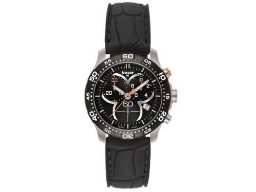 Traser H3 Damenuhr Ladytime Black Chronograph T73928AHG1A01 Silikonband
