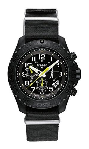 Traser 102908 Herren Edelstahl Schwarz Resin Band Schwarz Dial Smart Watch