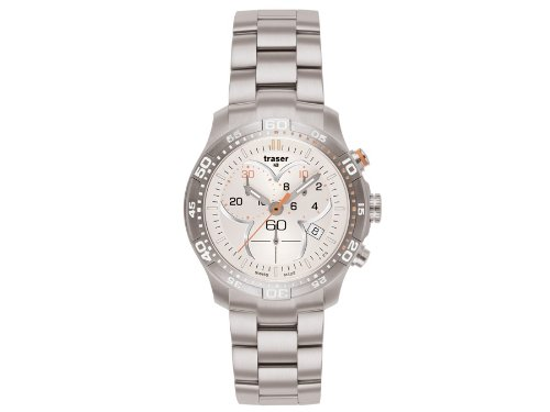 Traser H3 Damenuhr Ladytime Silver Chronograph T7392 25H G1A 08 Stahlband