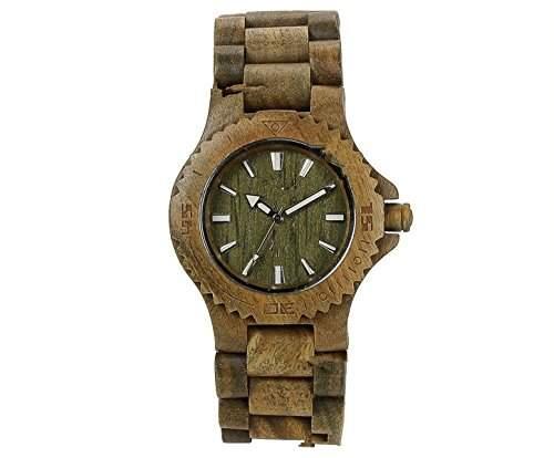 OrrOrr Analog Holzuhr aus Wood Herrenuhr FrauenUhr Armbanduhr LED Sportuhr Geschenk gruen