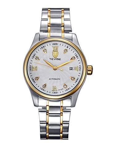 OrrOrr Automatikuhr Datum Strass Herren Uhr Mechanische Automatik Uhr Herrenuhr Armbanduhr Wei?