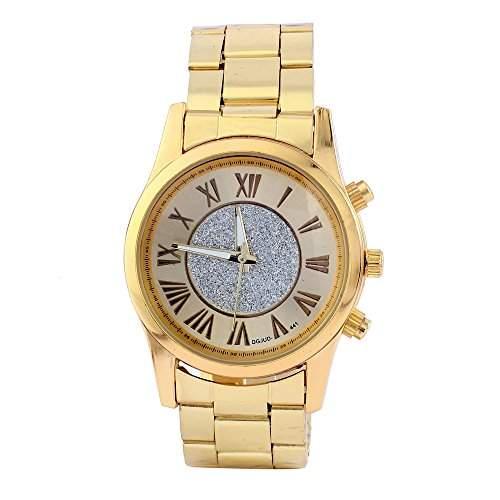OrrOrr Mode Herren Armbanduhr Gold Edelstahl Legierung Wasserdicht Analog Quarz Elegant Einzigartig Armband Uhr Gold