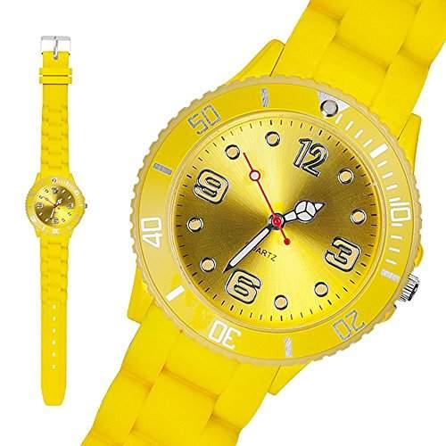 Taffstyle® Sportarmbanduhren - Sportuhr Bunte Damen Herren Silikon Armbanduhr in verschiedene Farben - 39mm  Gelb